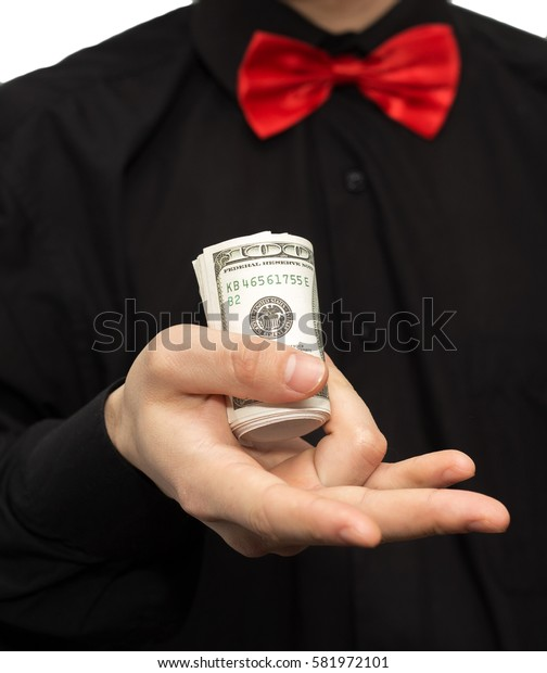 man holding a money