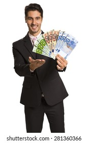 Man holding money / euro