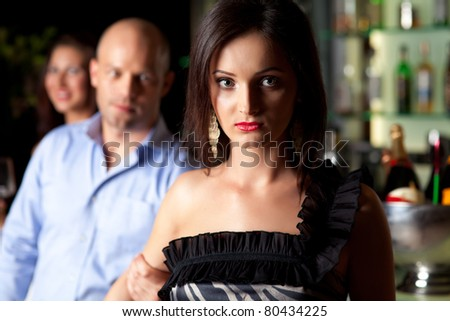 Man Holding Young Womans Arm Not Stock Photo Edit Now 80434225
