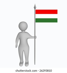 A man with the hungarian flag