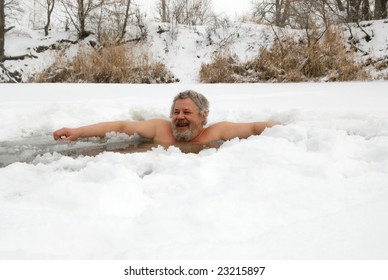 man in the ice-hole