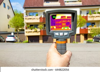 Man with infrared camera