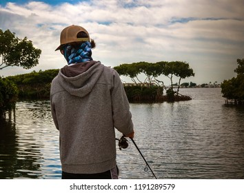 Man Inshore Fishing