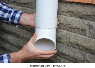 gutter DIY down pipe NEW Soil Pipe Clip Grey Each drainage