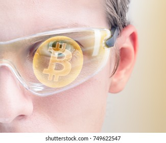 Man investing in Bitcoin