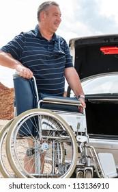 Man invites wheelchair into car