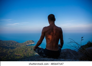 Man in a landscape
