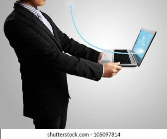 man with laptop in his hands