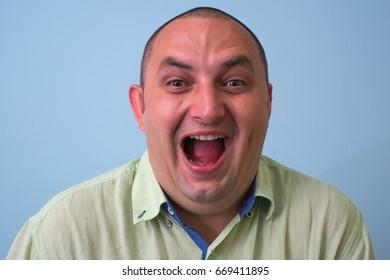 Man laughing portrait