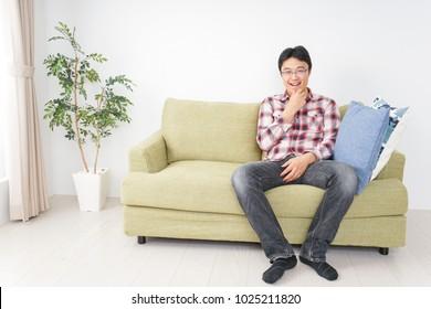 Man living alone