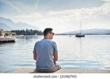 Man look to the sea