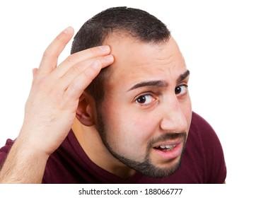 Man lose his hair