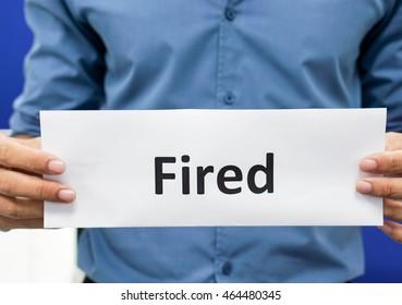 Man lose his job