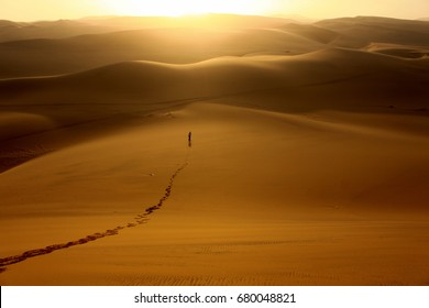 Man lost in desert Namibia