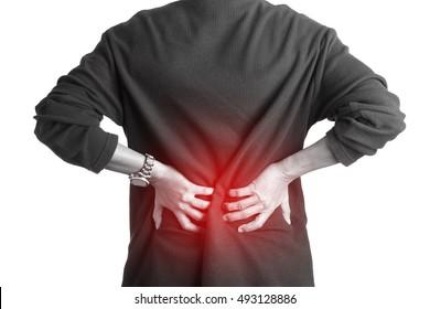 man lower back pain