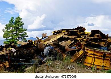 Man made industrial waste versus nature