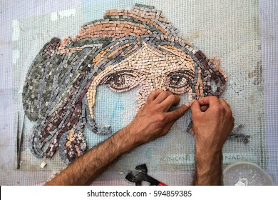 Man Making Mosaic