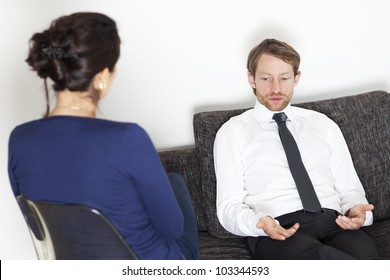 Man making therapy