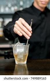 Man making whiskey