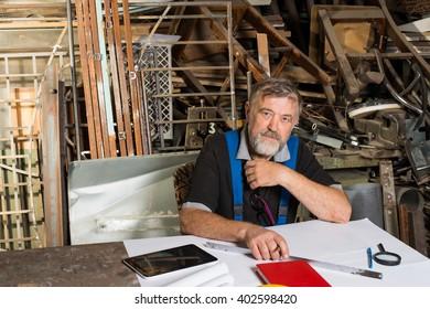 man manufacturing