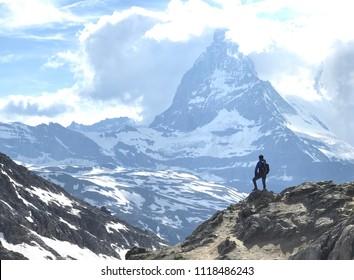 A man with Matterhorn