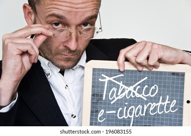 man message for e-cigarette