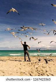 man at Miami Beach
