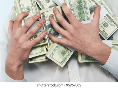man model of dollars