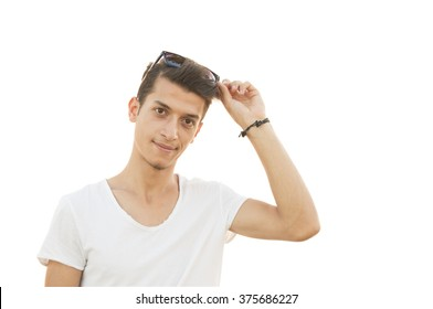 man model on white background