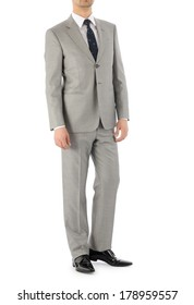 Man model with suit on white