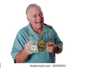 A man with money. A man with money has money to loan. Bank Loan. Money Broker. Loan Shark. Cash to lend.
