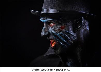 Man in monster makeup