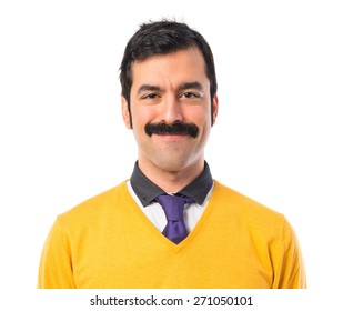 Man with moustache