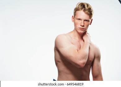 Man muscle, healthy body