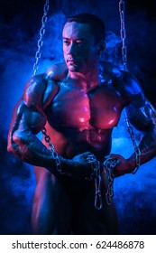 man with muscles bodybuilder