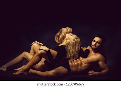 Blonde lesbians in wet panties