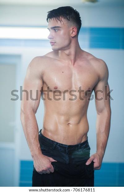 Naked athletic body Man Naked Wet Athletic Body Stock Photo Edit Now 706176811