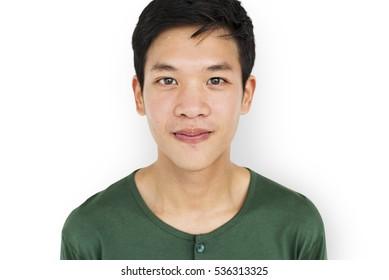 Man Natural Confident Portrait Casual Cheerful Concept