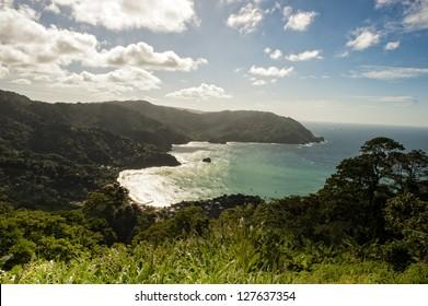 Man O War bay on Tobago