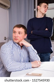 Man is offended and son is not wanting talking with him at the home.