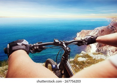 Man on a bicycle
