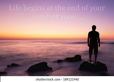NEW Classroom Motivational Poster Life Begins at the Edge of Your Comfort Zone