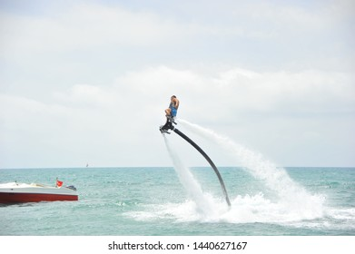 Man On The Fly Board