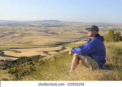 Man on Hike