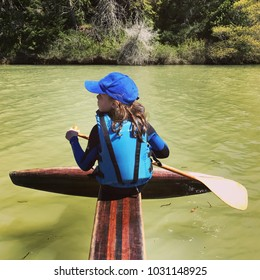Man on kayak on river
