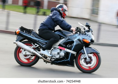 man on the motorbike