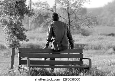 Man on the park bench