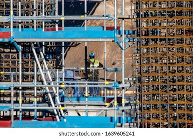 Man on Scaffolding, construction technology