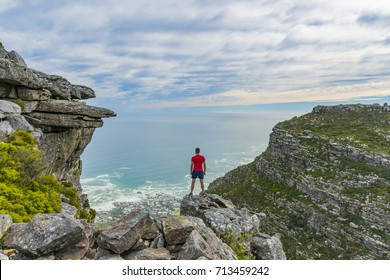 Man on top of Table Mountain - Cape Town