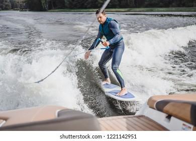 Wakesurf Boat Images, Stock Photos & Vectors | Shutterstock